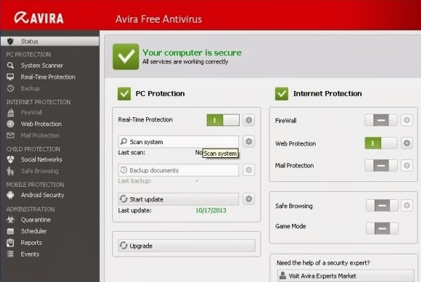 Download Avira Antivirus Full Version