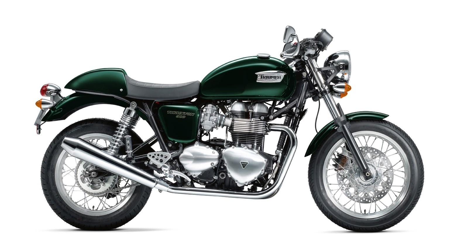 Triumph Thruxton on aston martin vantage exhaust