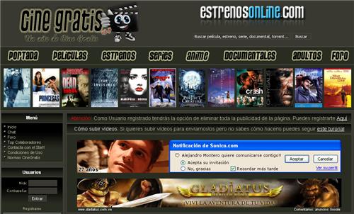Sitios para Ver Peliculas Gratis en Internet