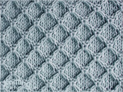 Diamond Honeycomb Knitting Stitch Patterns