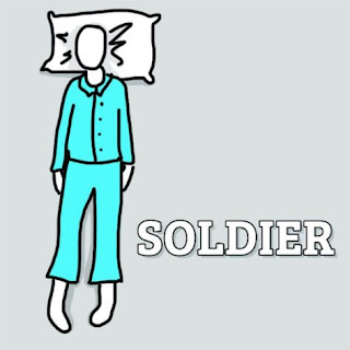 Soldier sleeping Position