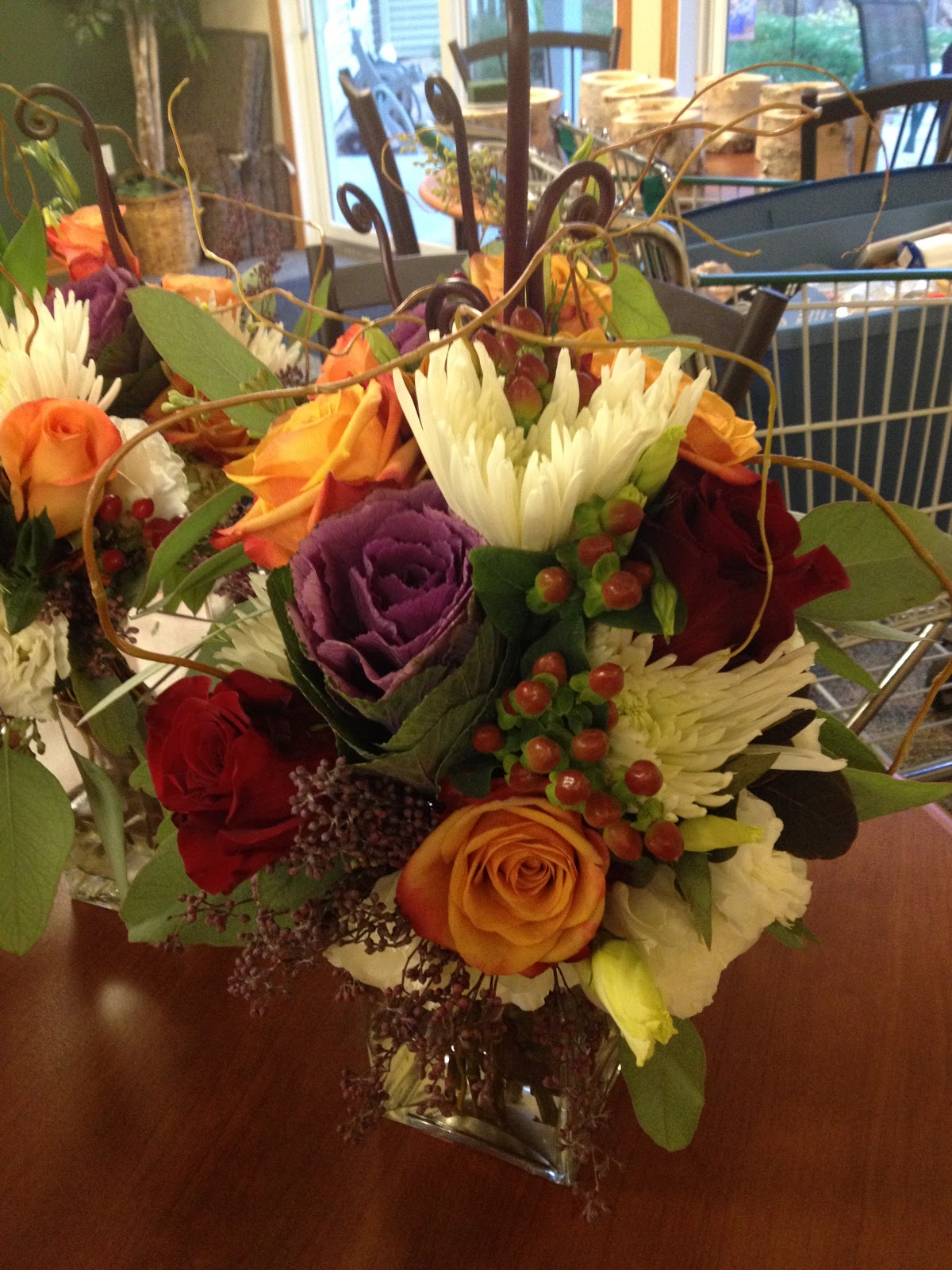 This Is Not A Great Pic But Was The Bridal Bouquet She Wanted Larger Version Of Her Girls Bouquets With All Same Colors