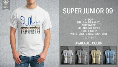 kaos super junior online murah