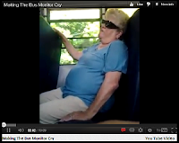 Making the bus monitor cry from youtube.