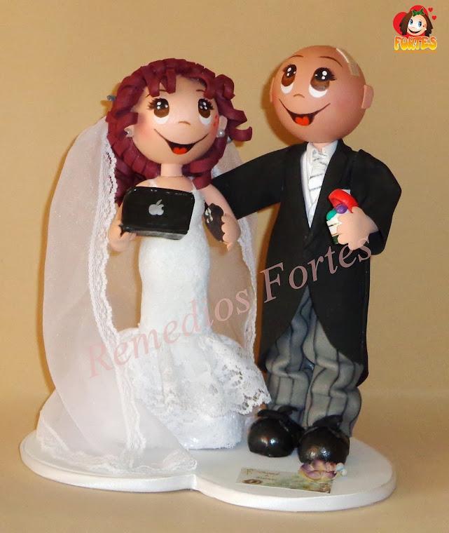 Dani y Patri, novios de tarta de bodas
