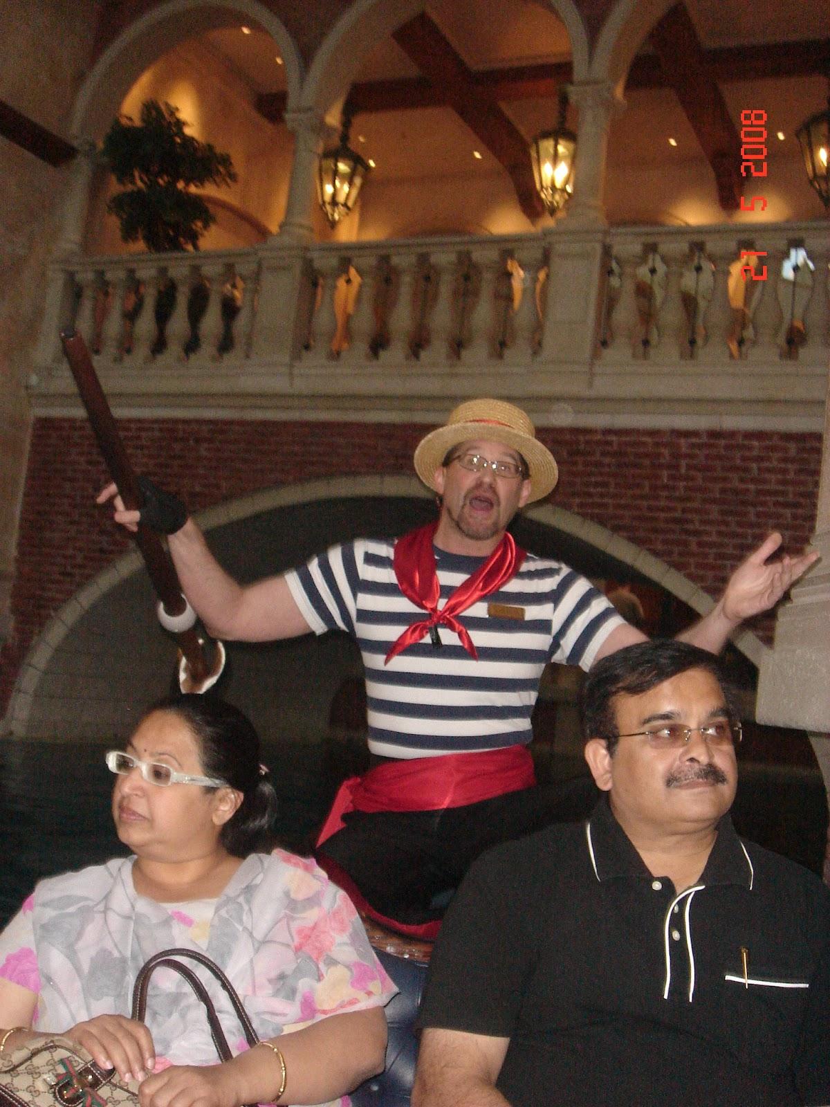 Venetian Gondola and Gondolier Las Vegas