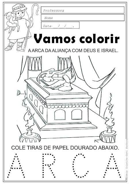 Desenho da Arcada Aliança entre Deus e Israel