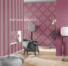 Pinturas ba os papel pintado vanity fair 2013 - Habitaciones con papel pintado y pintura ...