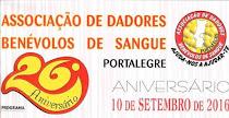 PORTALEGRE: 26º ANIVERSÁRIO DA ASSOCIAÇÃO DOS DADORES DE SANGUE