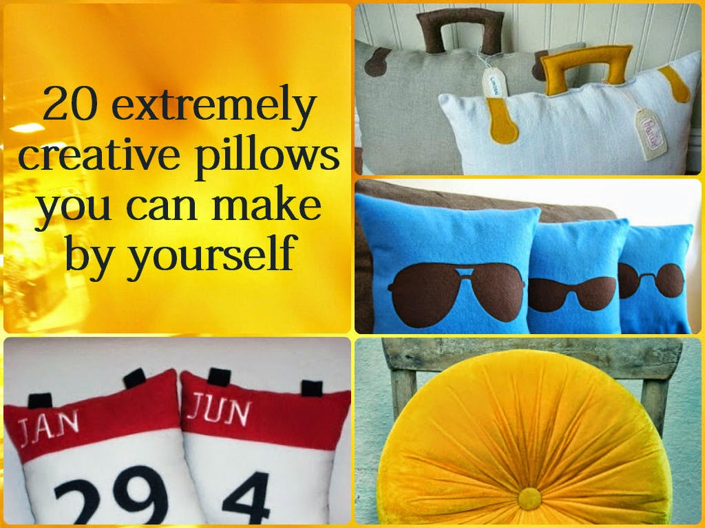 20 extremely creative pillows you can make by yourself