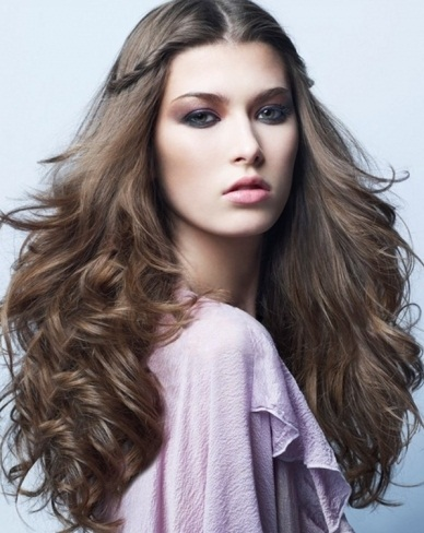 Glamorous Half Updo Hairstyle 2014