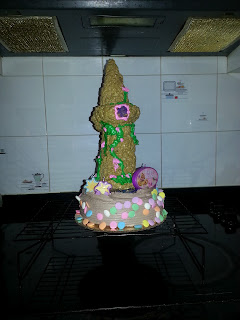 tangled rapunzel birthday cake