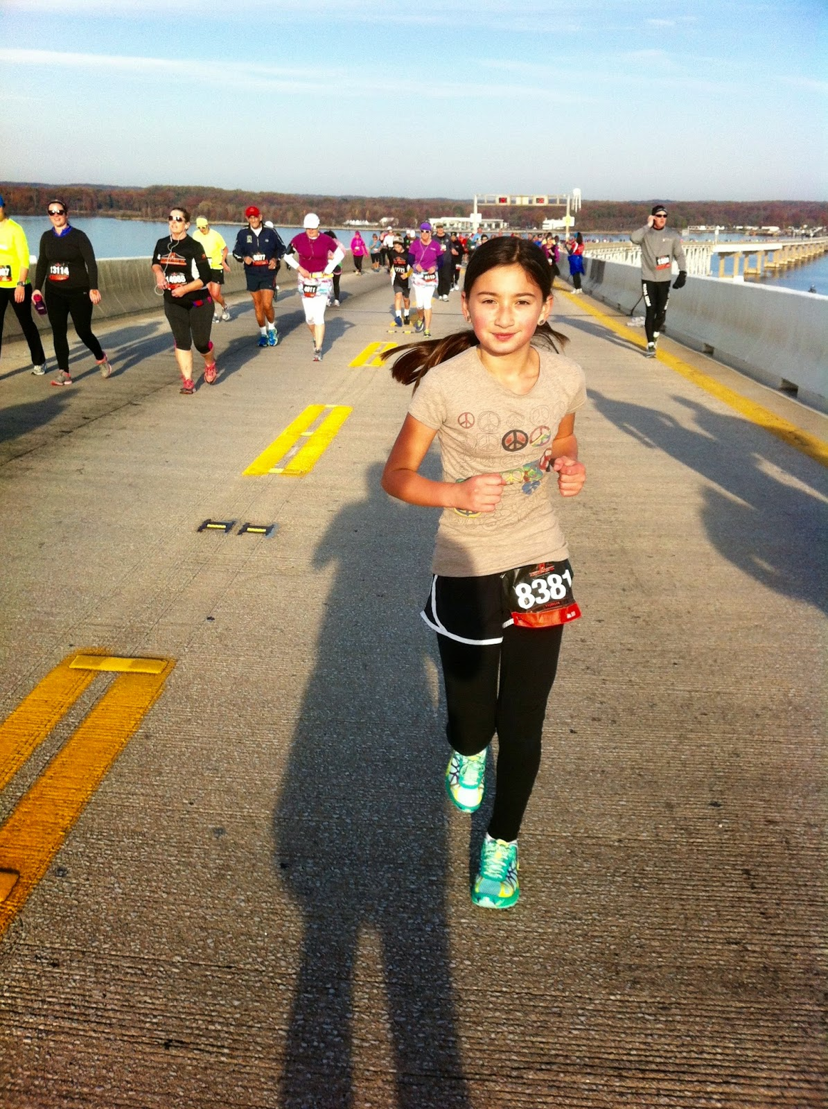 Lil O running - Bay Bridge 10K