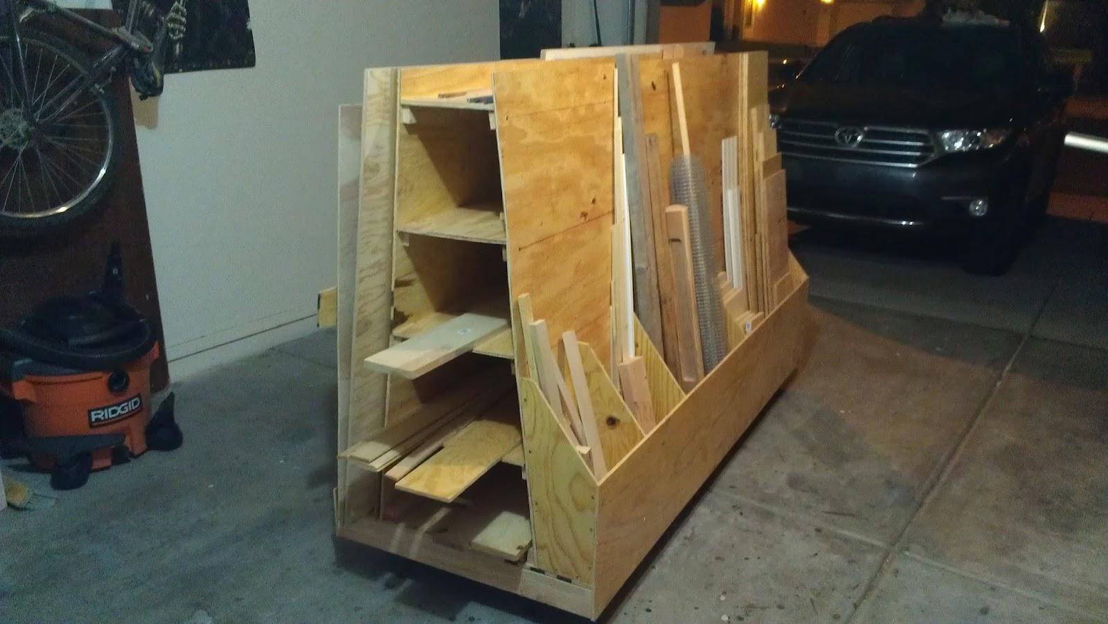 Monoloco workshop wood storage cart