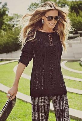 blusa de tricot e calça Maria.Valentina outono inverno 2014