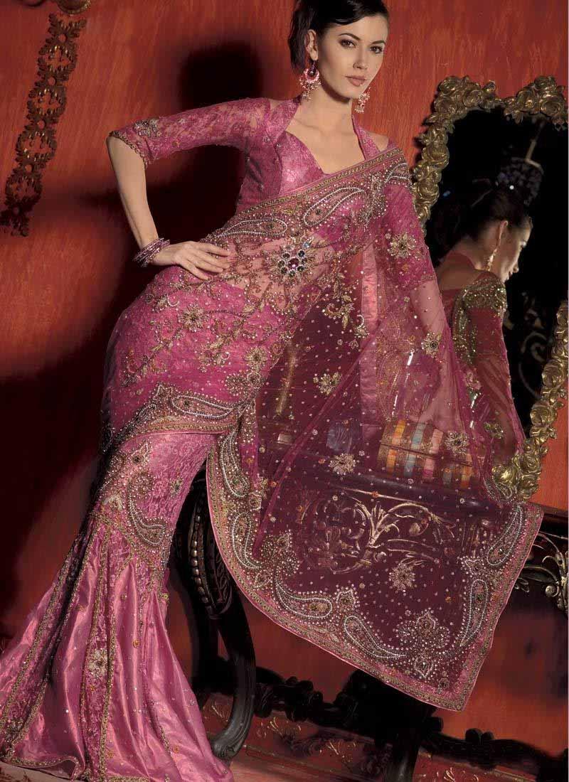 Hair Style Beautiful Saree Design