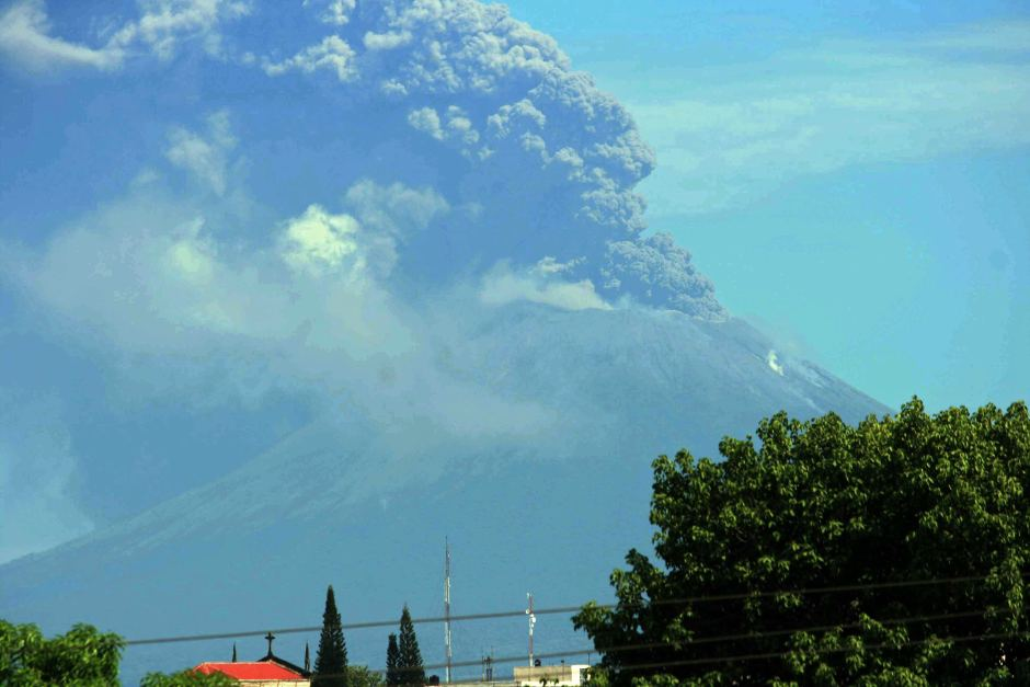 Volcano Eruption Uptick -San Cristobal volcano Nicaragua spews ash 2 km into the sky