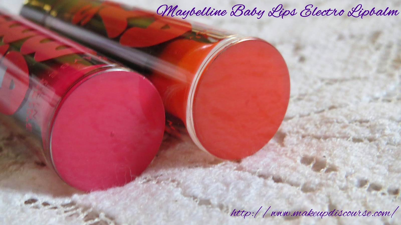 Maybelline Baby Lips Electro Pop in Oh! Orange! and Pink Shock in India