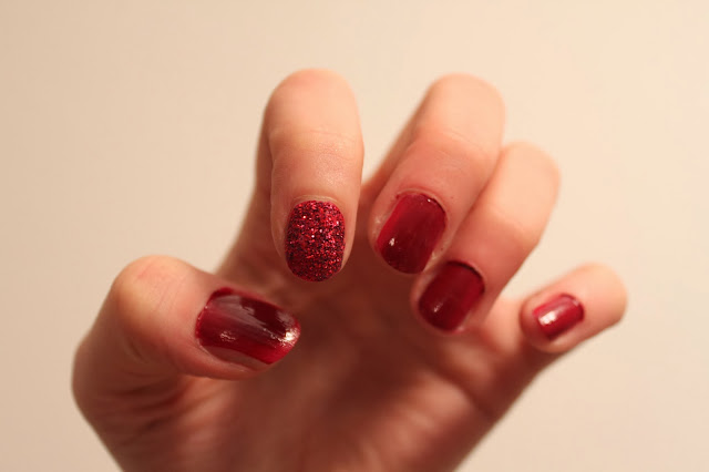 nails inc, bling it on, ruby red
