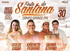 Sirano & Sirino, João Neto Pegadão e Rita de Cássia no Arco Verde Casa Show em Campo Grande/RN