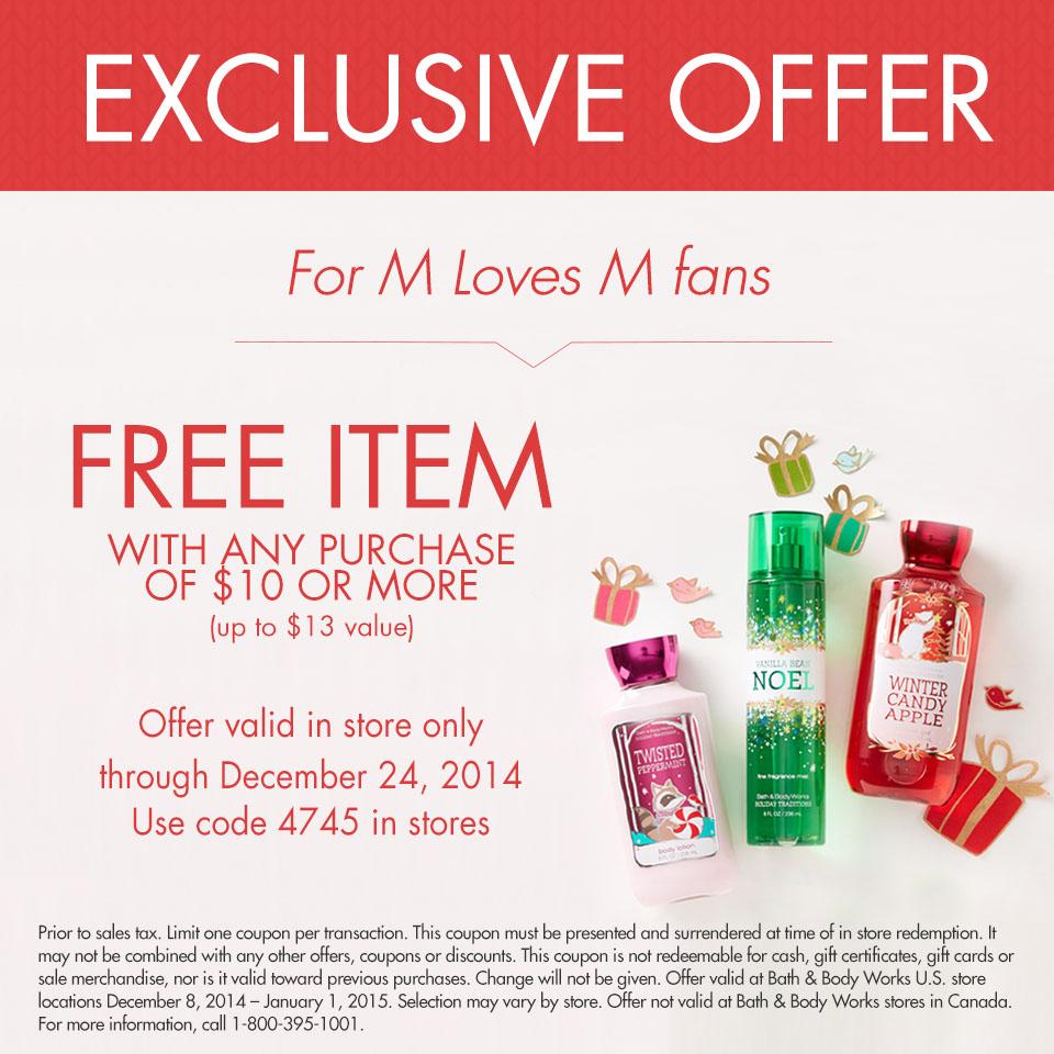 Bath & Body Works holiday promotions via M Loves M @marmar