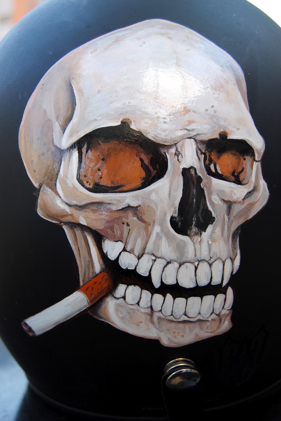 Ejestudiodesing Calavera Fumando Madu Hdc Alicante