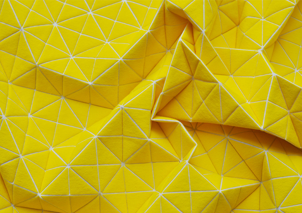 Mika Barr Geo pillow yellow detail, blog by et aussi