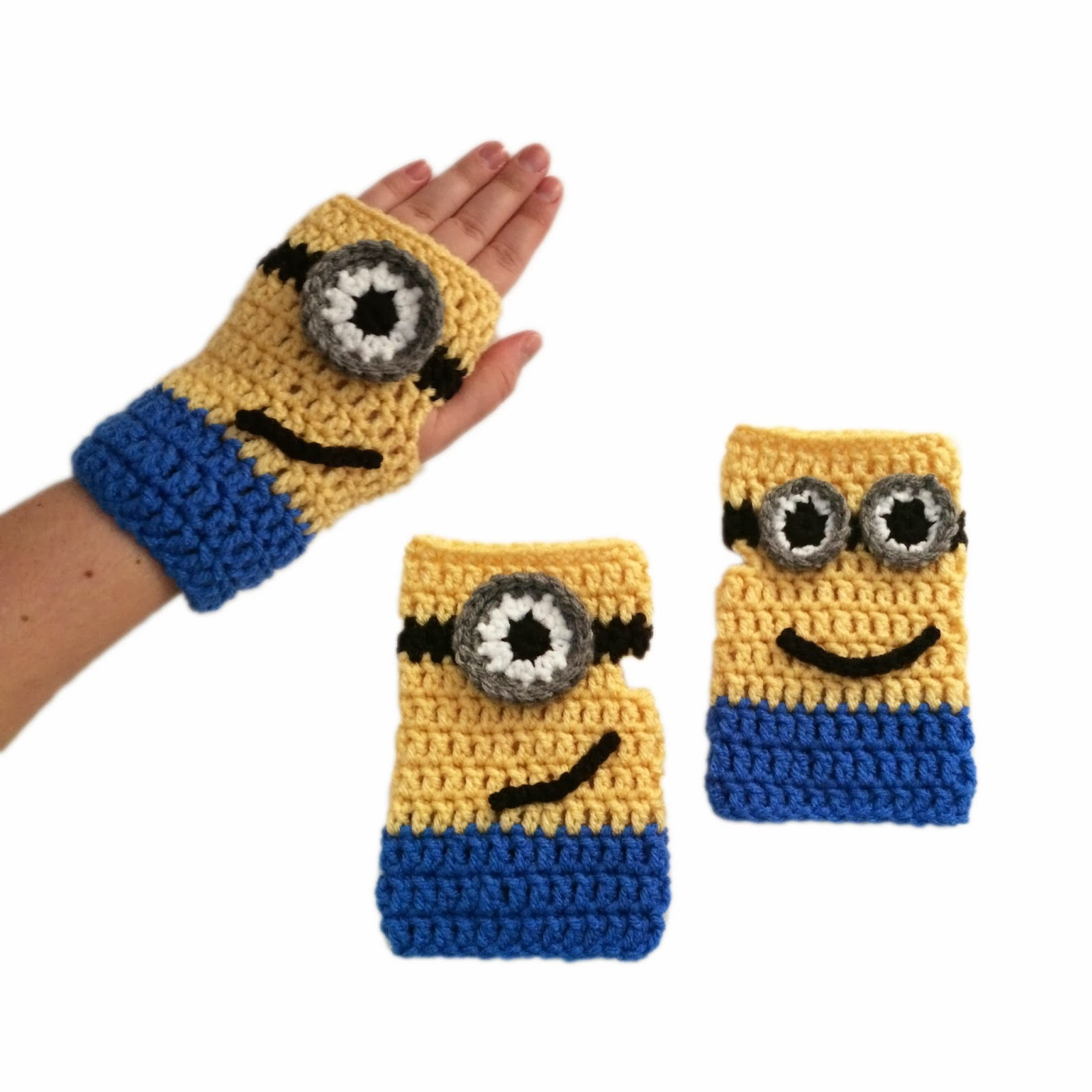 Minion Crochet Pattern Fingerless Gloves Car Interior Design