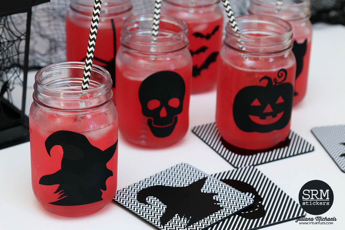 halloween mason jars & coasters | downloadable digital cut file