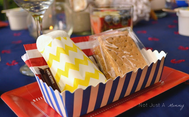 Starfish And Stripes: Nautical 4th Of July Tablescape s'mores