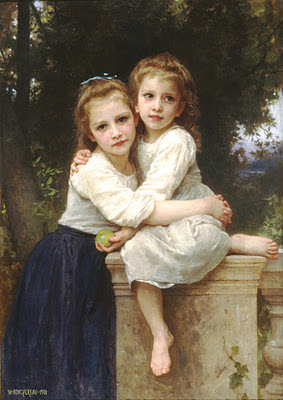 niñas de William Adolphe Bougereau