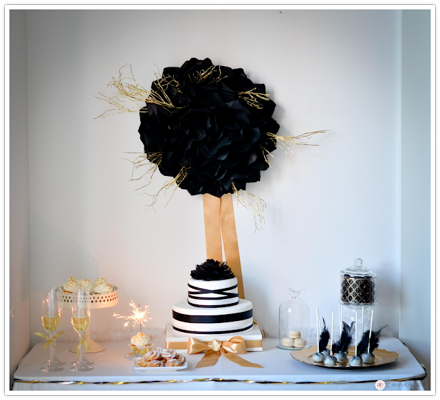 New Year's Eve party in gold and black from BistrotChic