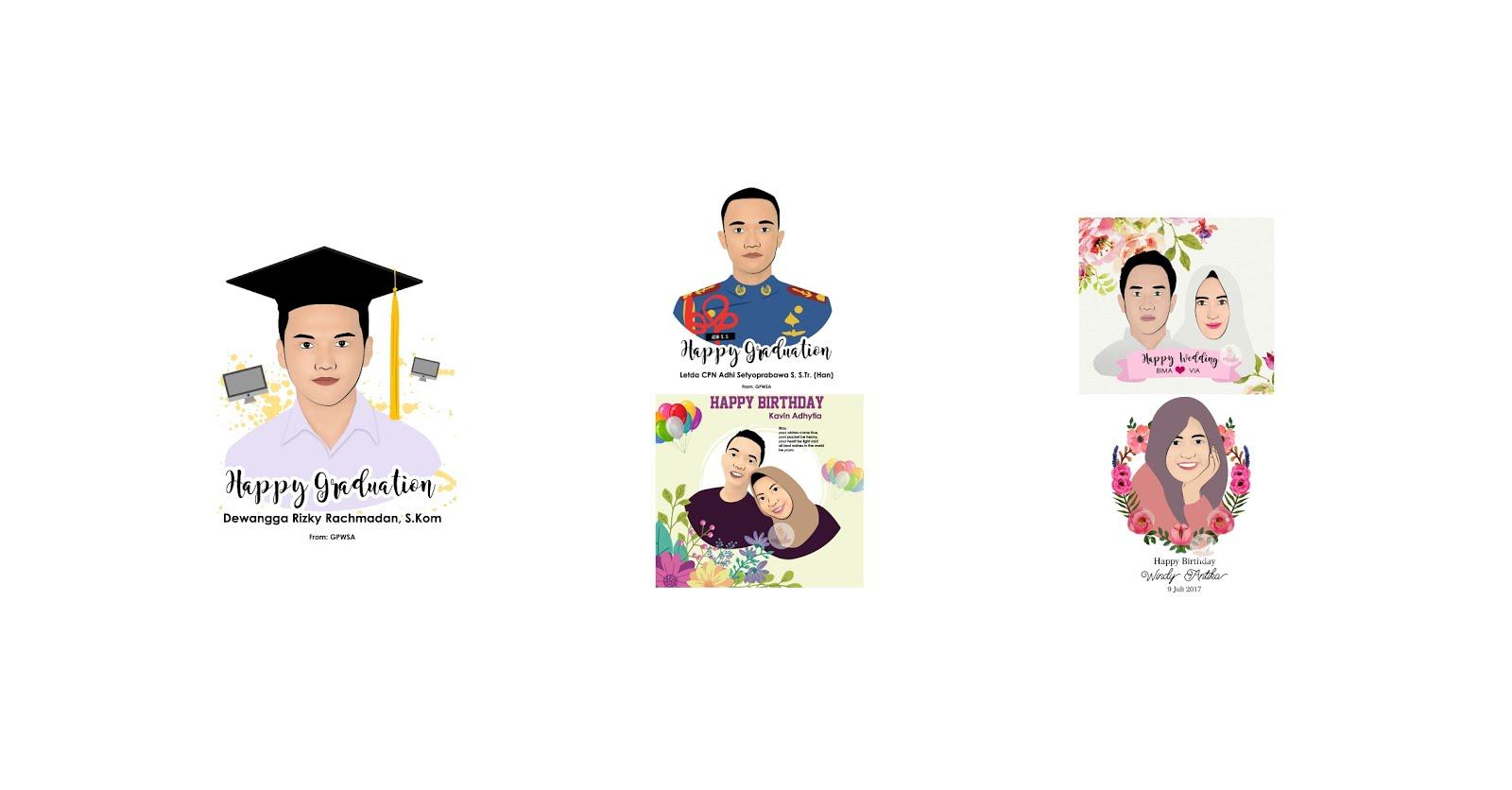 Kartun wajah & Merchandise