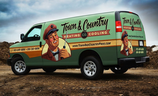 Retro HVAC Truck Wrap