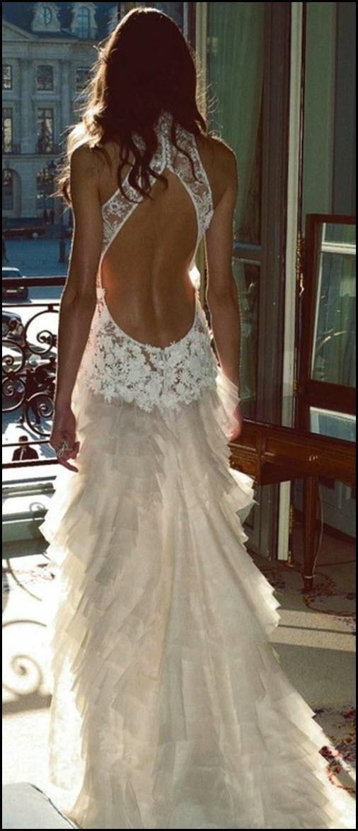 Un vestido de novia provocativo
