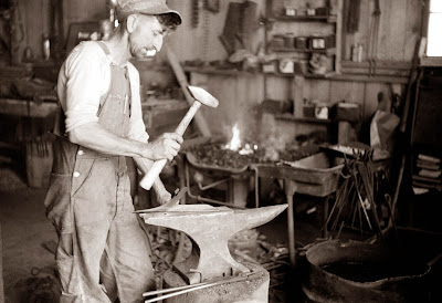 Blacksmith at Anvil