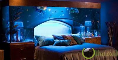 Aquarium tempat tidur