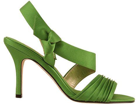 precious light green bridal wedding shoes