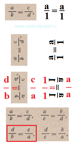 Поворот пропорции против часовой стрелки. Математика для блондинок.