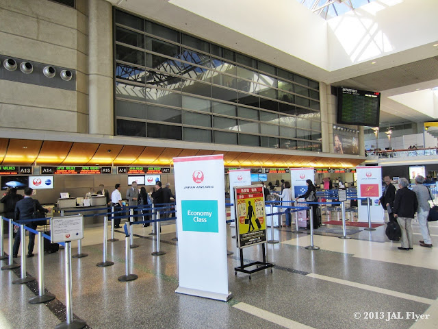Japan Airlines check-in counters at Los Angeles Tom Bradley International Terminal