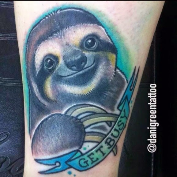 Relaxing Sloth Tattoos