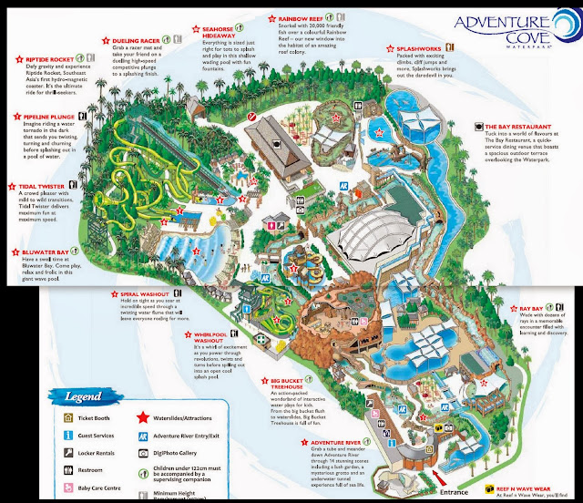 Adventure Cove Waterpark Singapore map
