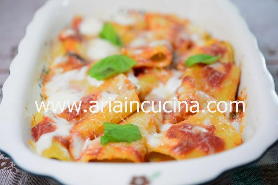 Blog di cucina di Aria: Paccheri alla mediterranea gratinati in forno