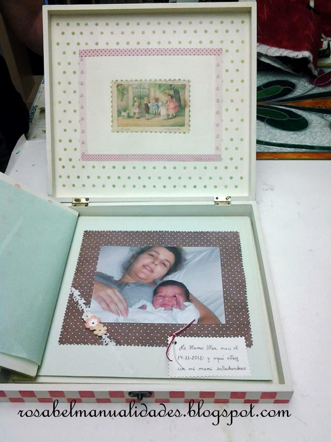 Rosabel manualidades album de fotos con caja - Manualidades album de fotos ...