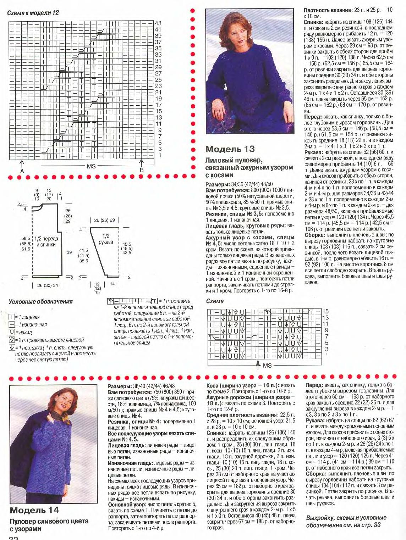 Узоры и схемы вязания спицами описание 52