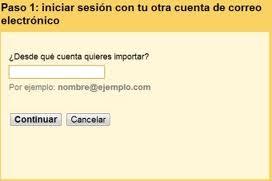 Importar antiguos contactos a Gmail
