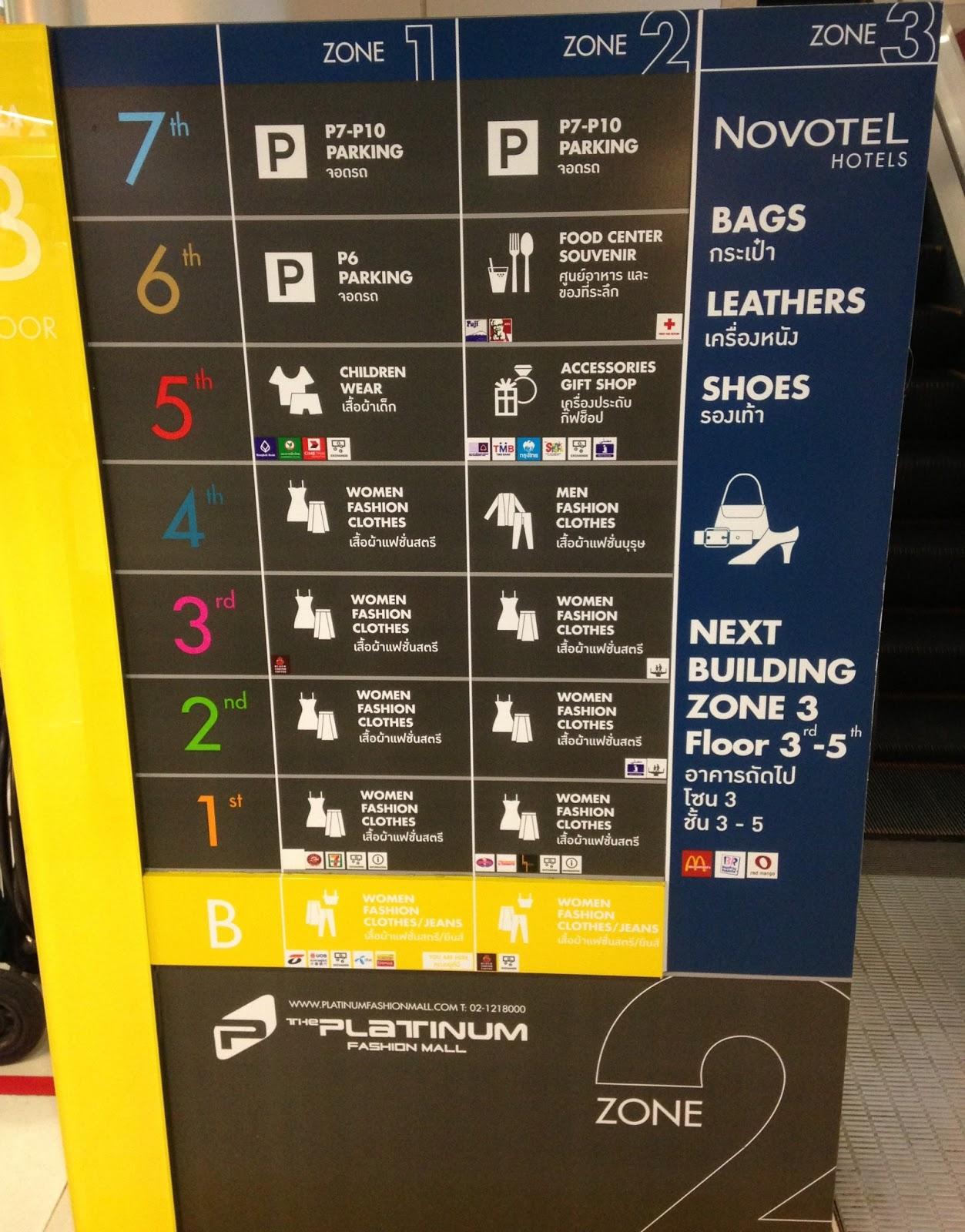 The Platinum Fashion Mall Directory