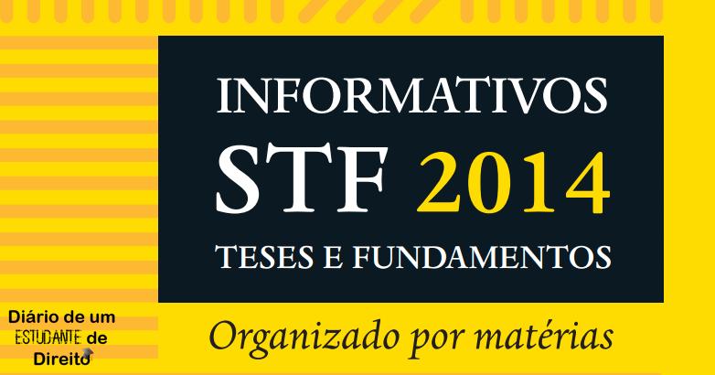 STF disponibiliza e-book com suas teses e fundamentos separados por matéria