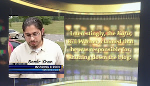 "Inspire editor Samir Khan's Al-Qaeda website posted a video ""Return of the Blog"" to Bill Warner"