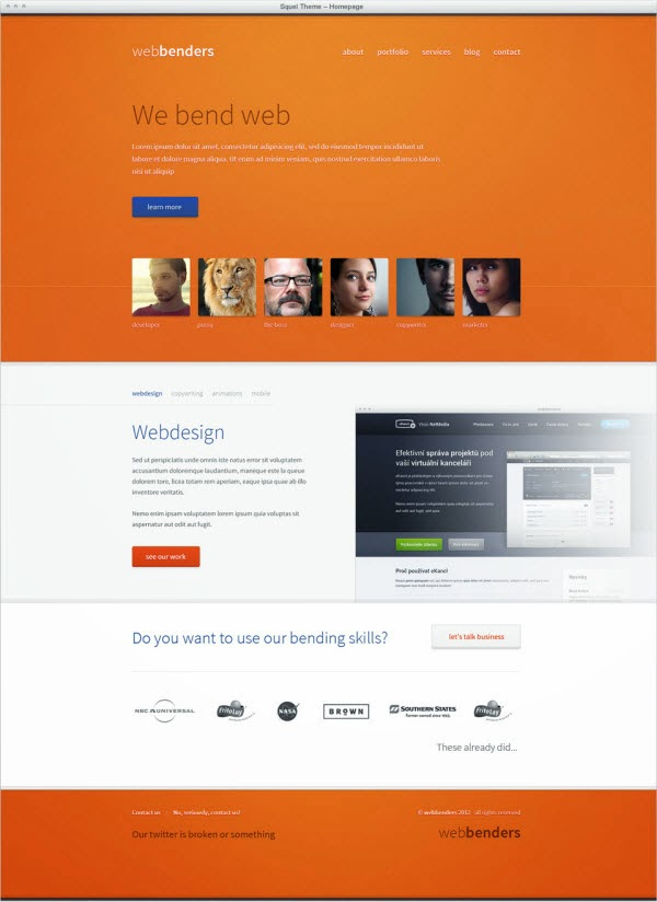 Webbenders psd theme